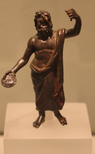 Bronze statuette of Zeus, Demetrias, shrine of a house of the Roman period. 3rd century AD
